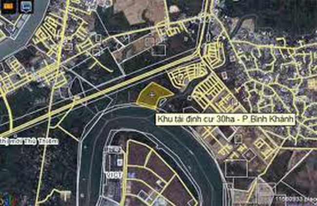 Điều chỉnh cục bộ Khu tái định cư Bình Khánh