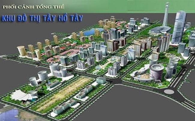Đẩy nhanh dự án Khu trung tâm Khu đô thị Tây Hồ Tây