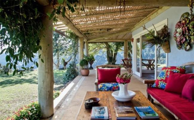 Tuyệt đẹp căn nhà sinh thái trên núi