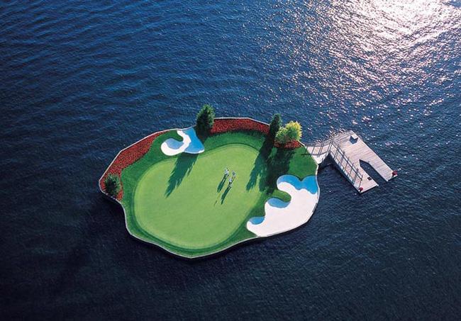 Chiêm ngưỡng sân golf nổi trên biển ở Mỹ