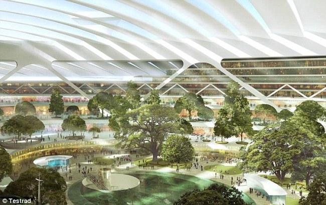 """Anh xây dựng """"sân bay nổi"""" khổng lồ ở London"""