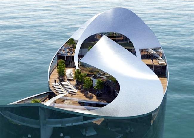 Độc đáo khách sạn nổi hình quả bóng tại Qatar