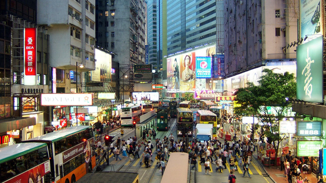 Giá thuê mặt bằng bán lẻ tại Hồng Kông đắt nhất thế giới