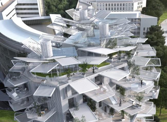 Độc đáo tòa nhà hình cây tuyệt đẹp