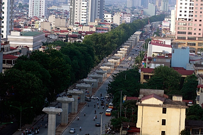 Gấp rút thi công dự án đường sắt đô thị Nhổn-ga Hà Nội