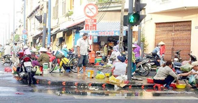 Khu dân cư thành chợ tự phát
