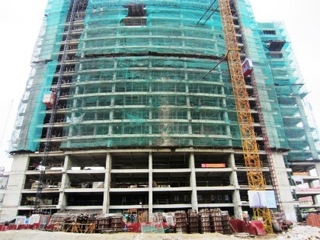 Hà Nội: Đình chỉ thi công công trình 27 tầng không phép