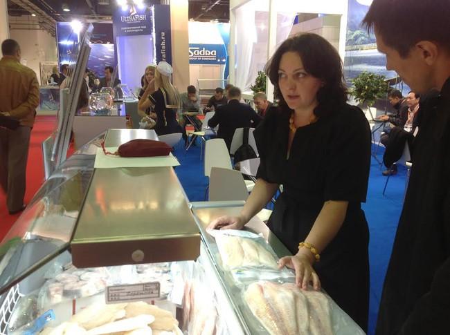 Thủy hải sản Việt Nam hút hàng tại hội chợ thủy sản Nga