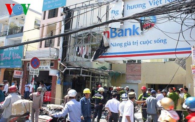 Vietinbank: Thợ hàn làm cháy sân để xe của phòng giao dịch