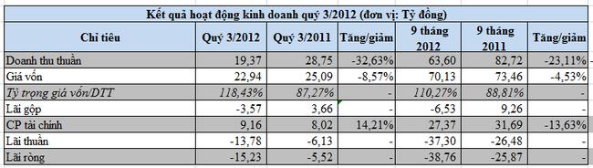 VSG-mẹ: Vốn chủ sở hữu âm 663 triệu đồng