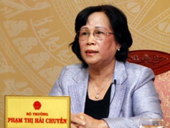 Bộ trưởng LĐTBXH Phạm Thị Hải Chuyền đối thoại trực tuyến với nhân dân