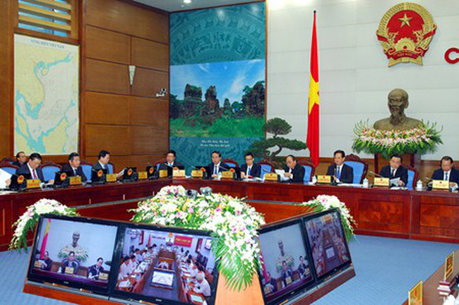 Chính phủ họp trực tuyến với các địa phương về kế hoạch phát triển kinh tế - xã hội 2015