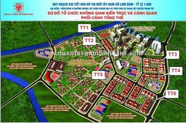 """HUD """"phớt lờ"""" với hồ sơ QHCT 1/500 Dự án Nam hồ Linh Đàm?"""