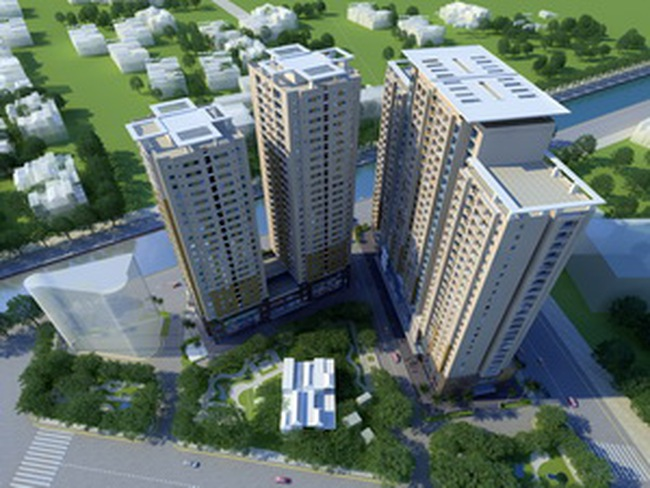 Cất nóc CT2 dự án Nam Đô Complex