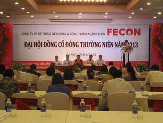 ĐHCĐ Fecon: Thông qua mức cổ tức 20% năm 2013