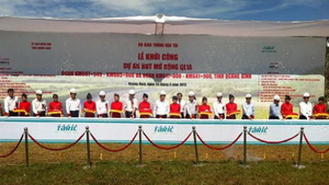 Tasco khởi công dự án mở rộng Quốc lộ 1 tỉnh Quảng Bình 2000 tỷ