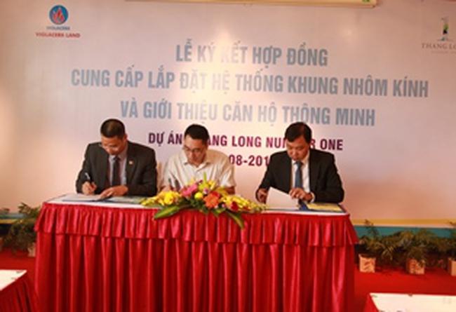 Ký hợp đồng cung cấp 28.600m2 kính cho Dự án Thăng Long Number One