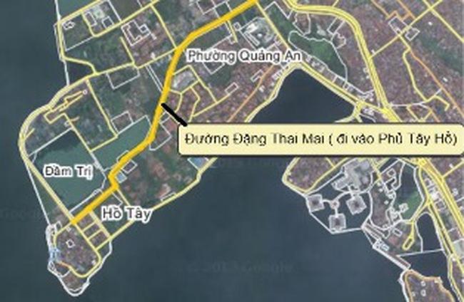Quận Tây Hồ xin bố trí vốn đầu tư mở rộng đường Đặng Thai Mai