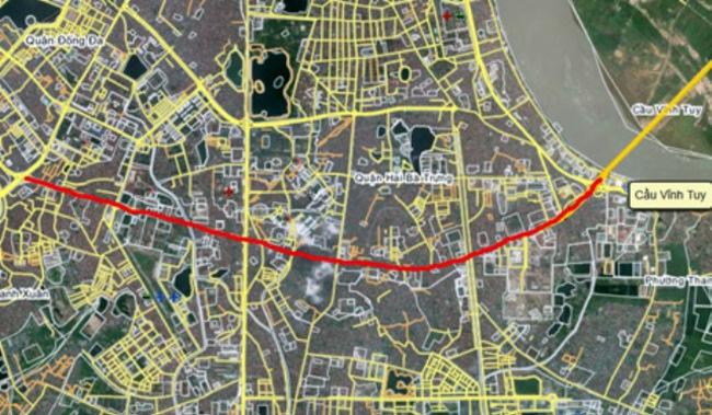 Năm 2014 sẽ thi công đường vành đai 2 đoạn Vĩnh Tuy –Ngã Tư Vọng