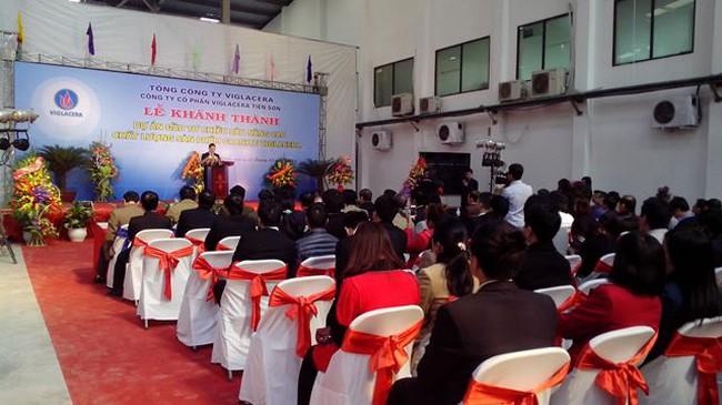 Khánh thành Dự án cải tạo nhà máy gạch Granit Viglacera Tiên Sơn