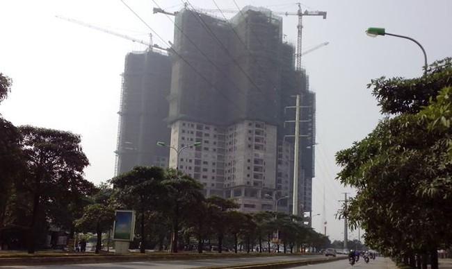 Cất nóc tổ hợp chung cư 30 tầng ở Mỹ Đình