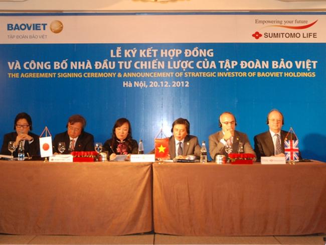 Sumitomo Life chi 340 triệu USD mua 18% cổ phần Tập đoàn Bảo Việt với giá cao