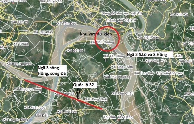 Sẽ có cầu 4 làn xe nối Hà Nội với Phú Thọ qua sông Hồng
