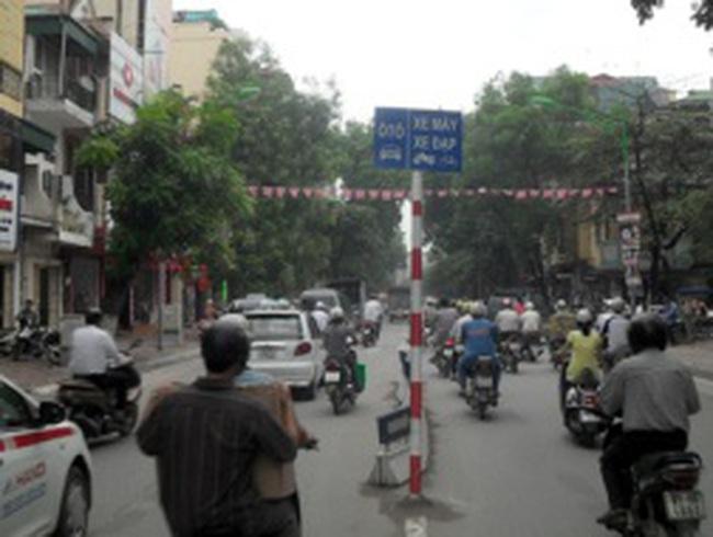 Hà Nội tiếp tục phân làn phương tiện