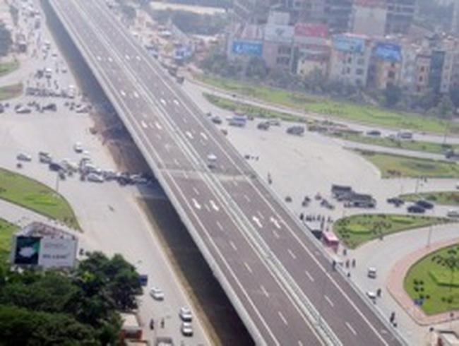 Đường trên cao đầu tiên của Thủ đô trước ngày thông xe