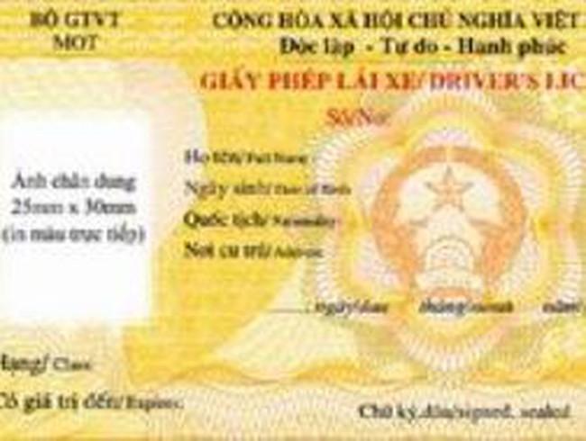 Quý I/2013, cấp giấy phép lái xe mẫu mới trên cả nước