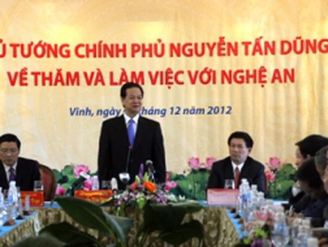 """Thủ tướng: """"Nghệ An cần thu hút các dự án công nghệ cao"""""""