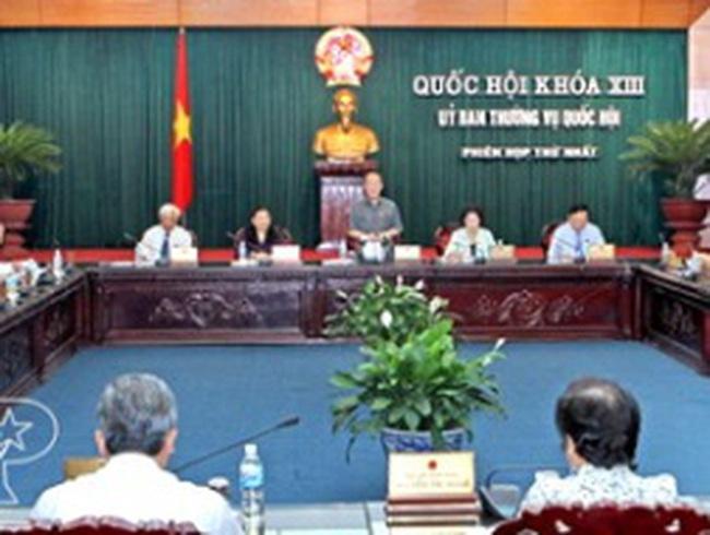 Ủy ban Thường vụ QH khai mạc phiên họp thứ 14