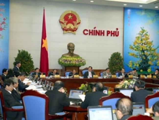 Chính phủ họp phiên thường kỳ tháng 1/2013