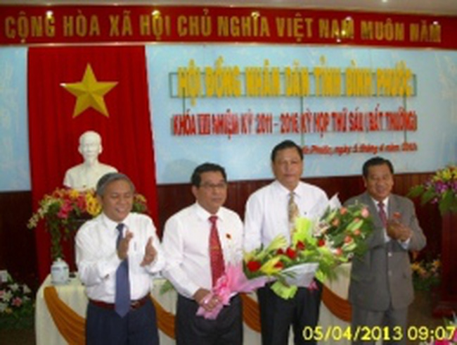 Ông Nguyễn Văn Trăm giữ chức Chủ tịch Bình Phước
