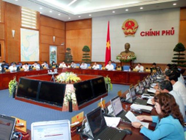 Chính phủ họp phiên thường kỳ tháng 4/2013
