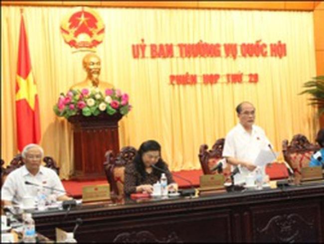 Thường vụ Quốc hội bế mạc phiên họp thứ 20