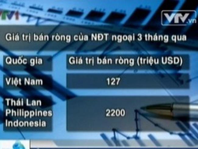 NĐT ngoại ồ ạt rút vốn khỏi thị trường chứng khoán Việt Nam
