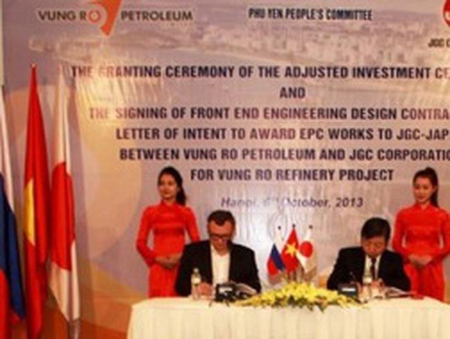 Bước tiến quan trọng cho dự án lọc dầu 3 tỷ USD