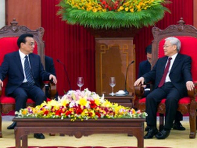 Lãnh đạo Đảng, Nhà nước, Quốc hội tiếp Thủ tướng Trung Quốc