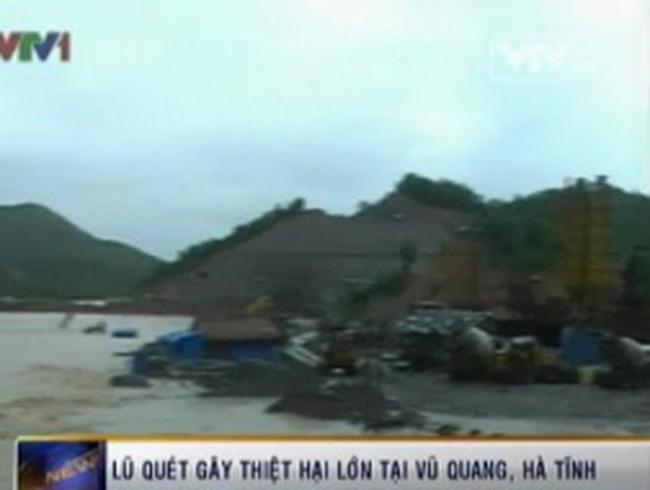 Lũ quét gây thiệt hại lớn tại Vũ Quang, Hà Tĩnh