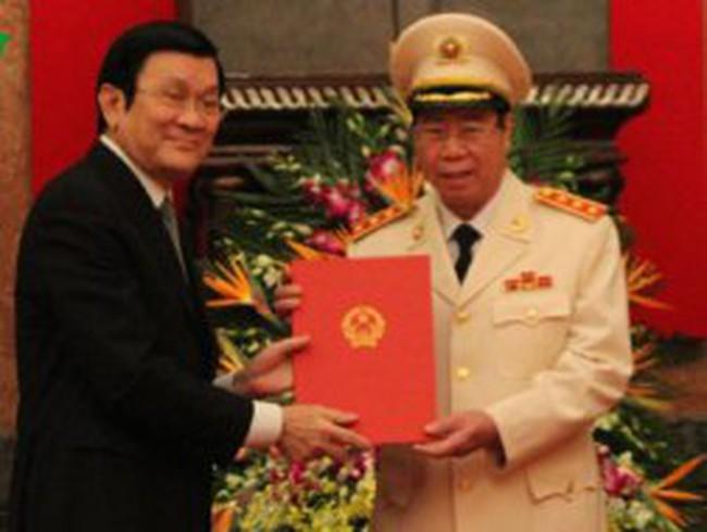 Phong hàm Thượng tướng cho Thứ trưởng Bộ Công an