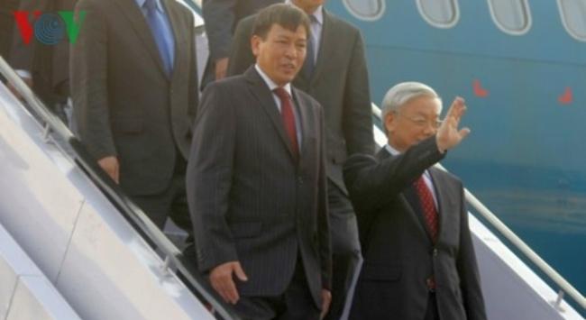 Tổng bí thư Nguyễn Phú Trọng bắt đầu chuyến thăm Ấn Độ