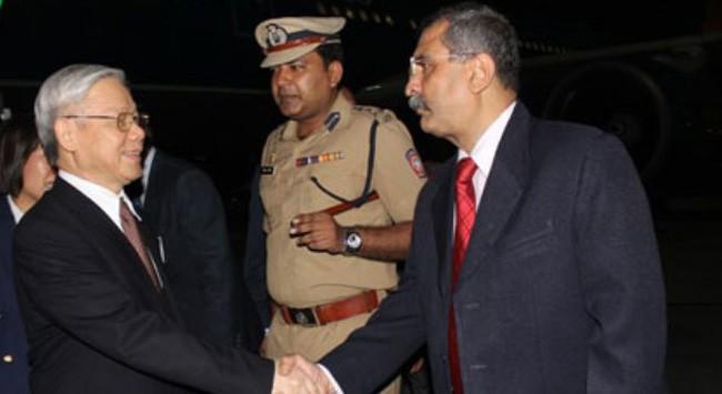 Tổng Bí thư kết thúc tốt đẹp chuyến thăm Ấn Độ