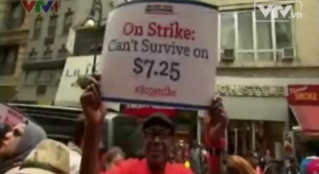 13 bang của Mỹ đồng loạt tăng lương tối thiểu