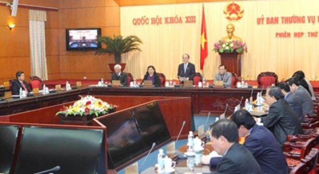 Ủy ban TVQH cho ý kiến về Luật Tổ chức Quốc hội (sửa đổi)