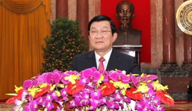 Thư của Chủ tịch nước chúc Tết Giáp Ngọ 2014