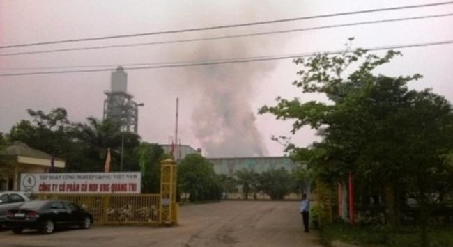 Cháy lớn tại nhà máy gỗ MDF - VRG Quảng Trị