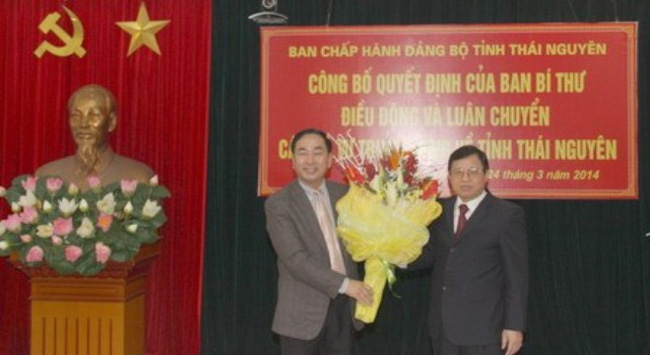 Luân chuyển ông Trần Quốc Tỏ giữ chức Phó bí thư Thái Nguyên