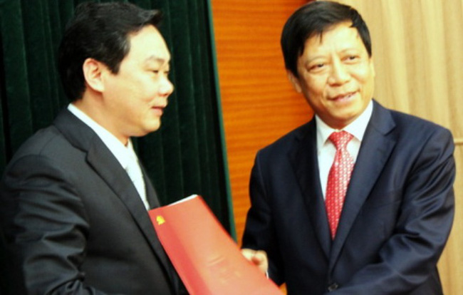 Thứ trưởng Bộ Tư pháp Lê Hồng Sơn nhận quyết định luân chuyển về Hà Nội