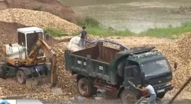 Chưa ngăn chặn được việc khai thác cát sỏi trái phép ở Bắc Giang